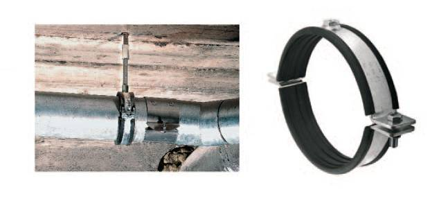 Виды стальных хомутов для крепления труб, различия и особенности крепежных изделий