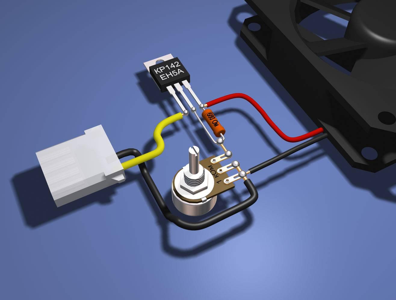 Схема подключения регулятора скорости вентилятора