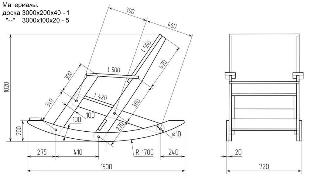 Кресло качалка из дерева своими руками: фото идеи, чертежи + пошаговая инструкция