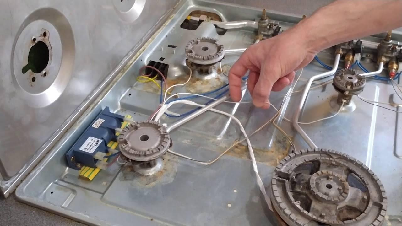 Не зажигается газовая конфорка плиты
