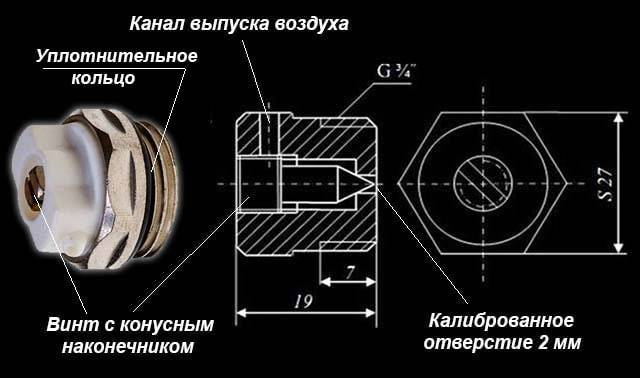 Кран маевского (ручной воздухоотводчик): принцип работы, конструкция   гид по отоплению