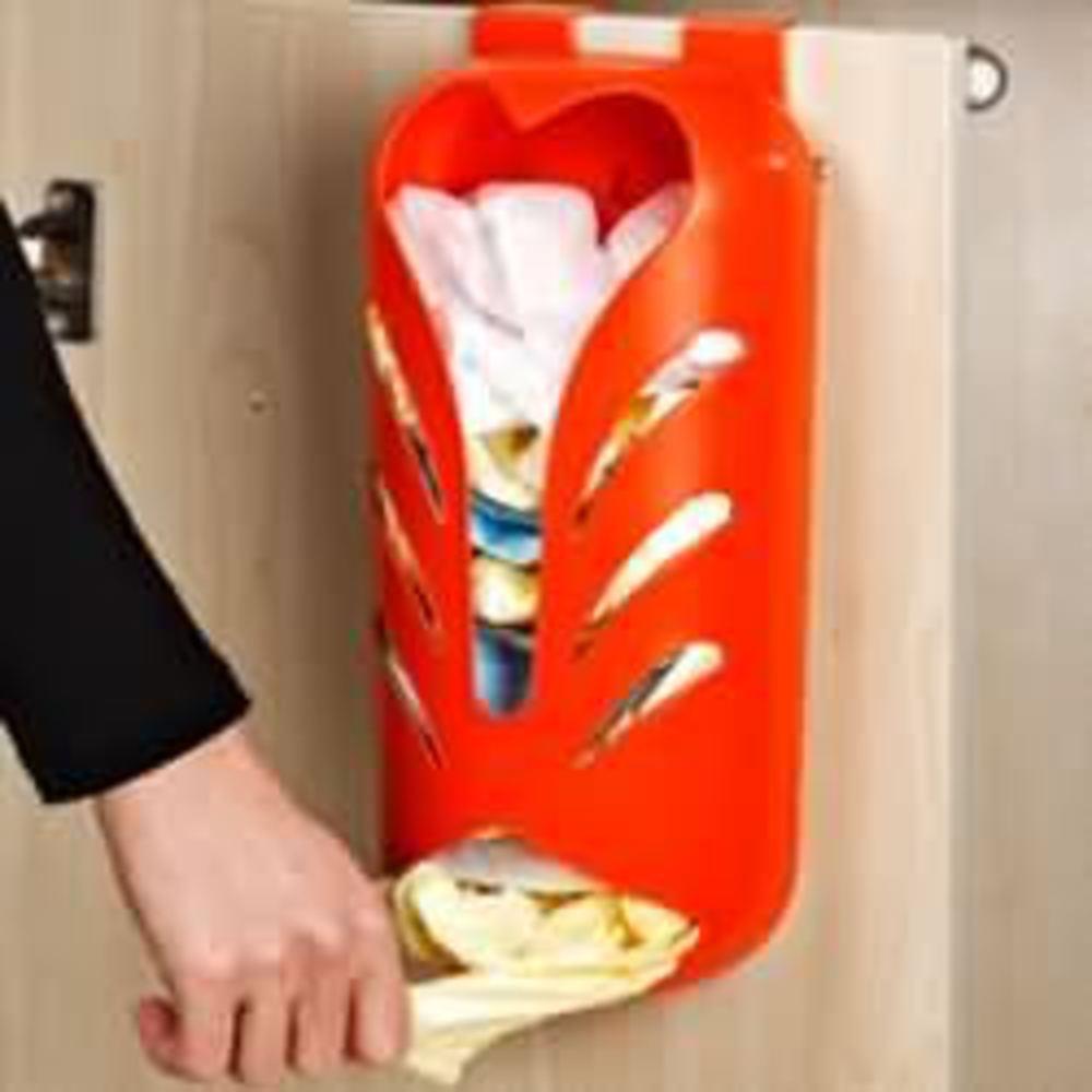 Как сделать приспособление для хранения пакетов на кухне, чтобы избавиться от беспорядка