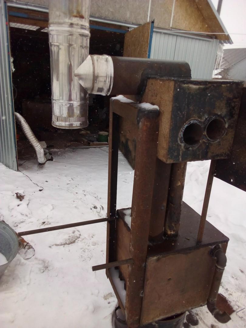 Экономичная дровяная печь для гаража длительного горения своими руками