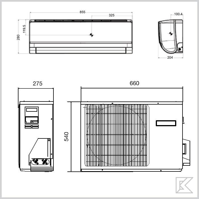 Наружный блок кондиционера: размеры и советы по установке