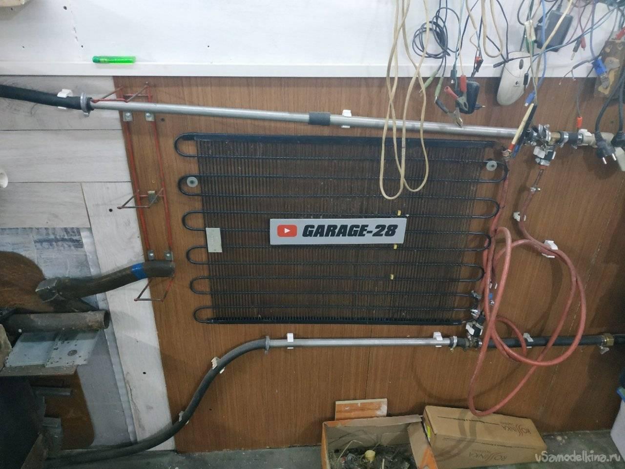 Отопление гаража своими руками экономно
