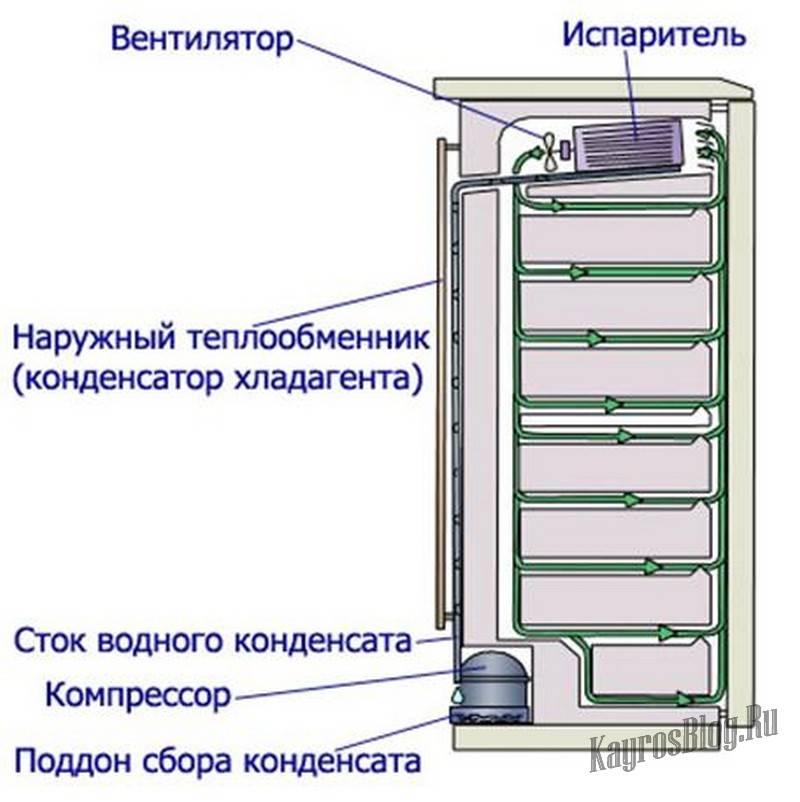 Устройство и принцип работы холодильника