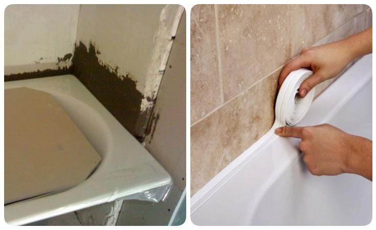 Как просто и быстро провести герметизацию ванны со стеной?