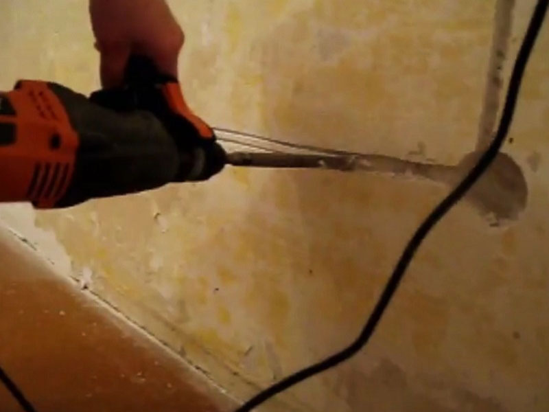 Штробление стен под проводку: правила, инструменты, варианты