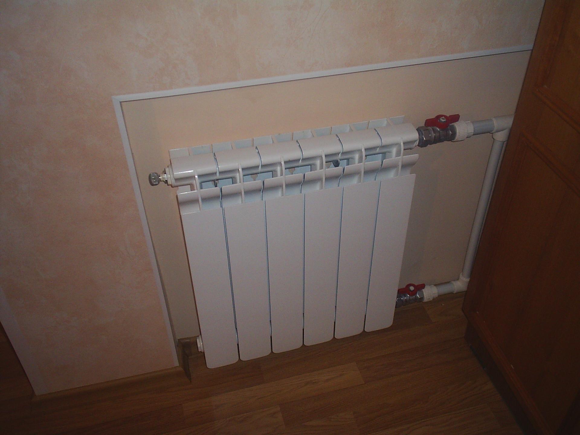 Как установить кран на батарею отопления