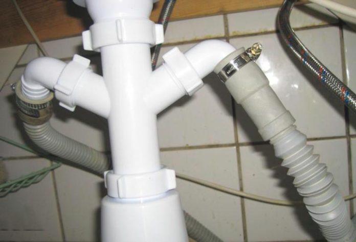 Сифон для раковины над стиральной машиной: плоские и узкие