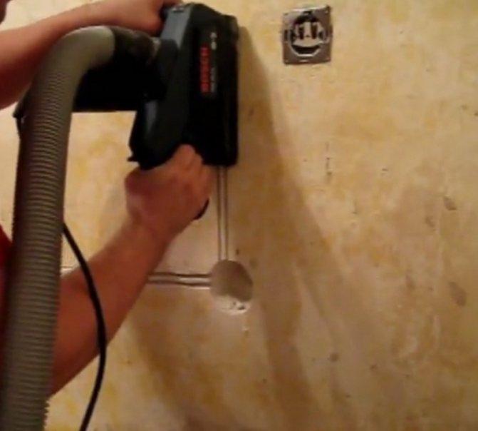 Как и чем штробить стены под проводку – особенности процесса