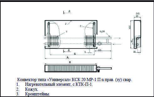 Конвектор кск-20