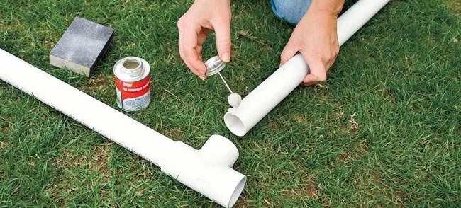 Клей для пвх труб и фитингов: чем клеить, методы монтажа