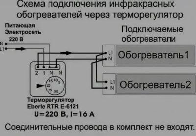 Подключение и выбор терморегулятора для ИК-обогревателя