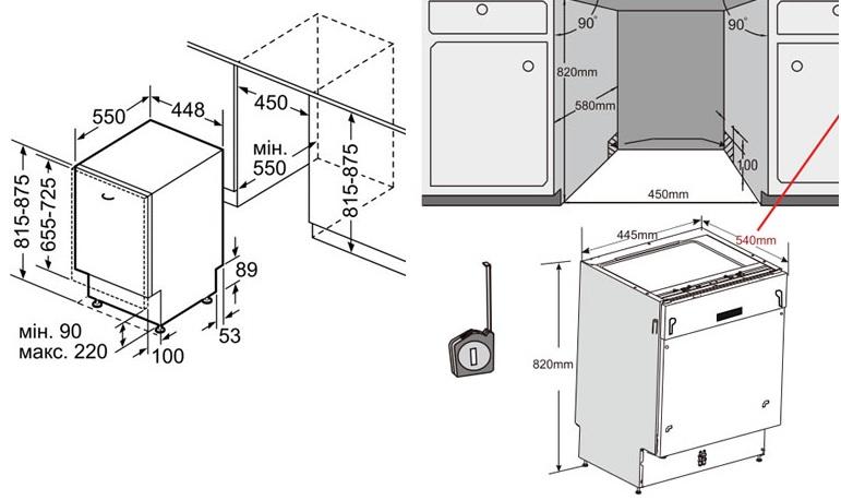 Как установить посудомоечную машину bosch самостоятельно в кухню: видео, инструкция