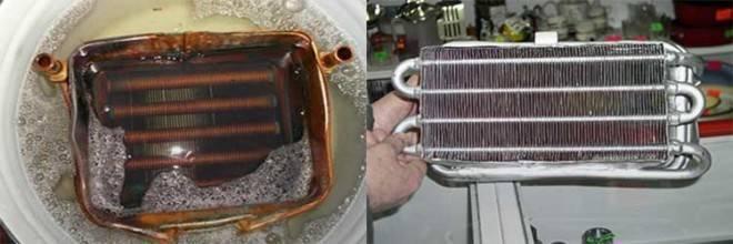 Пайка теплообменника газовой колонки при помощи пальника и газовой горелки, ремонт фланцев