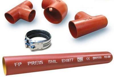 Размеры канализационных чугунных труб - все о канализации
