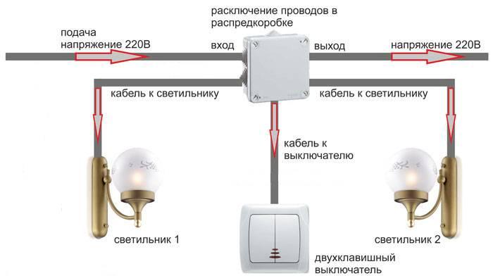 Монтаж двухклавишного выключателя света: как правильно подключить?