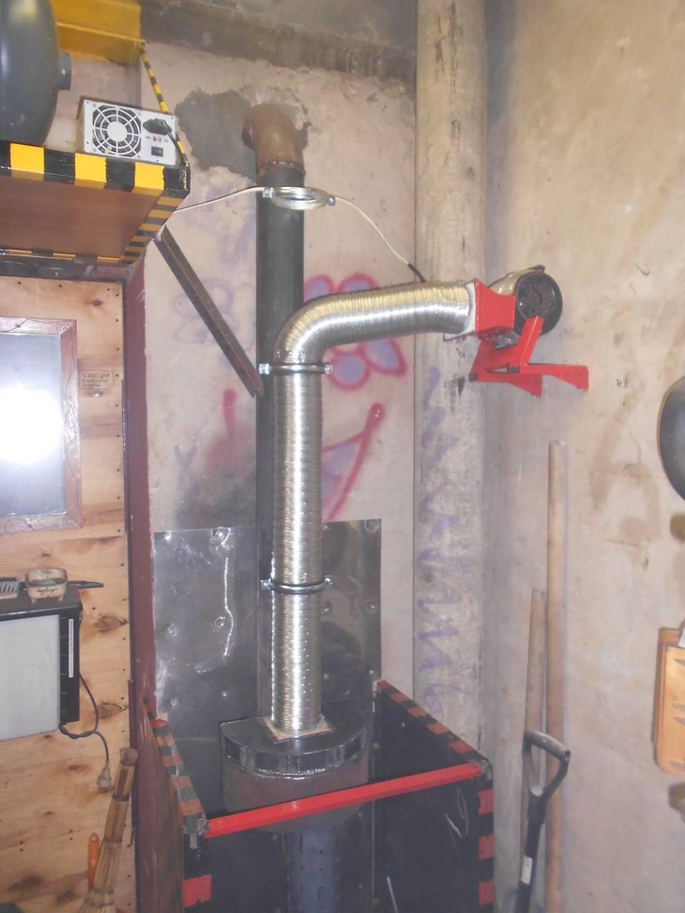 Как сделать дымоход в гараже: правила и инструкция