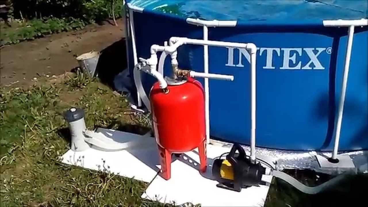 Варианты сборки фильтров для бассейна своими руками
