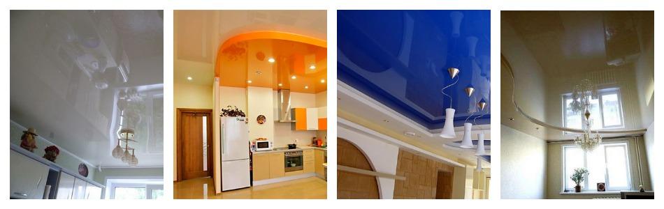 Цвет натяжного потолка на кухне: советы по выбору, реальные фото, необычные варианты