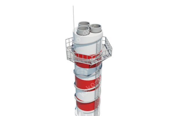 Расчет дымовой трубы: методика расчета тяги, высоты при естественной тяге, диаметра устья