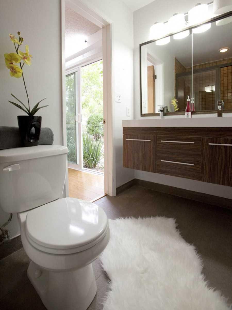 Дизайн маленькой ванной комнаты (90 фото)