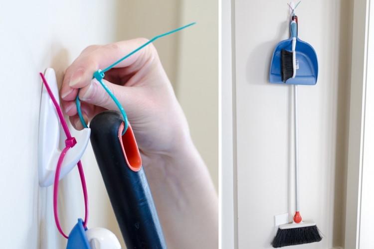 Способы использования кабельной стяжки в бытув закладки  3