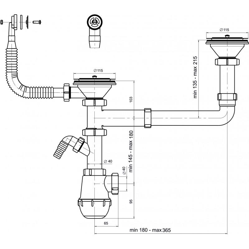 Как собрать сифон для раковины на кухне - все о канализации