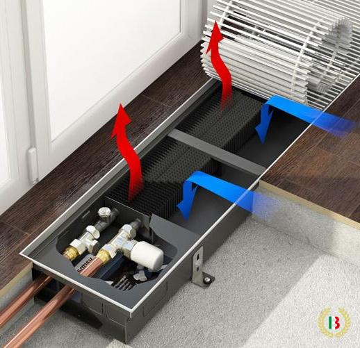 Внутрипольные конвекторы водяного отопления