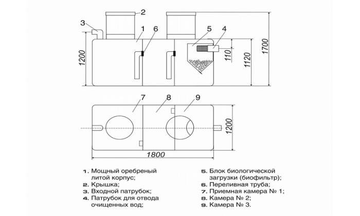 Септик «танк» — правила монтажа и установки