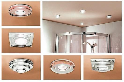 Потолочные светильники для ванной комнаты: нюансы использования