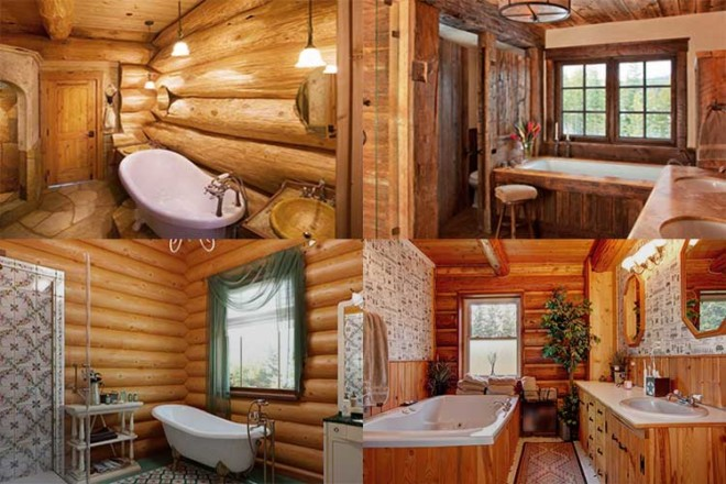 Дизайн ванной комнаты в деревянном доме: рекомендации и фото