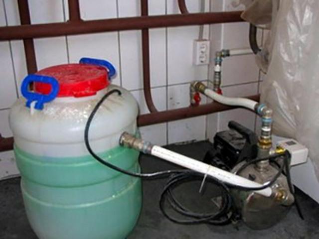 Заполнение системы отопления теплоносителем: технология - точка j