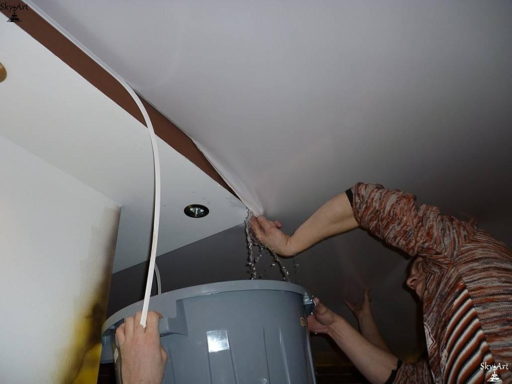 Что делать если капает с потолка, протечка потолочины, как устранить течь своими руками: инструкция, фото и видео