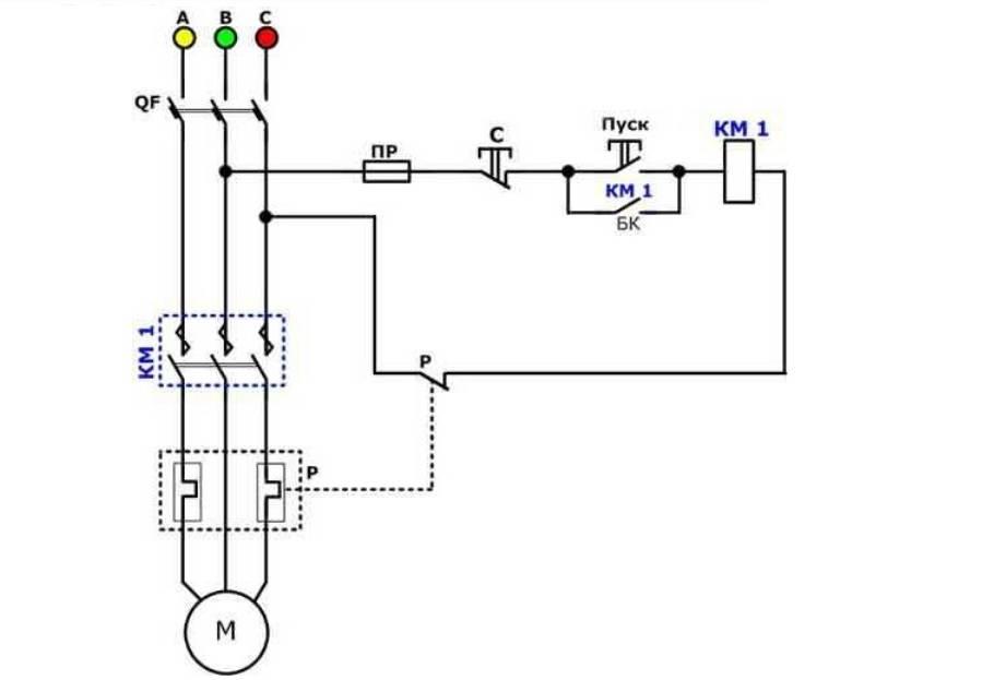 Подключение электродвигателя 380в через магнитный пускатель - всё о электрике