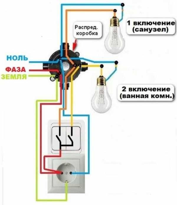 Подключение двойного выключателя: нормы и схемы, инструктаж по монтажу - точка j