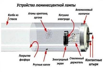 Устройство и принцип работы стартера для люминесцентных ламп
