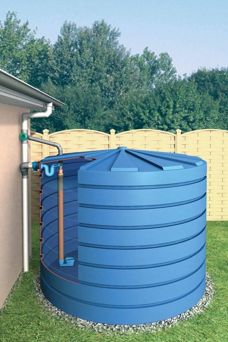Эффективный сбор дождевой воды - строим систему своими руками (видео урок + 150 фото)
