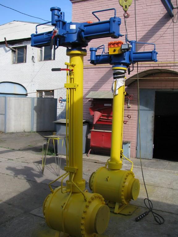 Шаровые газовые фланцевые краны