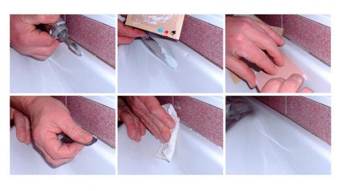 Ремонт акриловых ванн, заделка своими руками сколов и трещин, ликвидация мелких царапин
