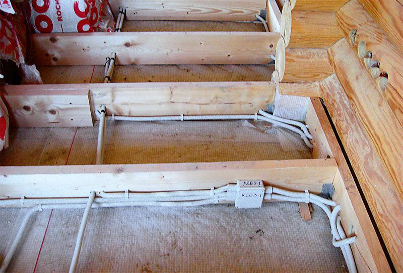 Скрытая проводка в деревянном доме — приятно глазу и безопасно, если работал профессионал