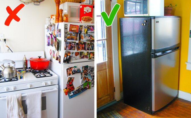 Можно ли ставить холодильник рядом с газовой трубой?