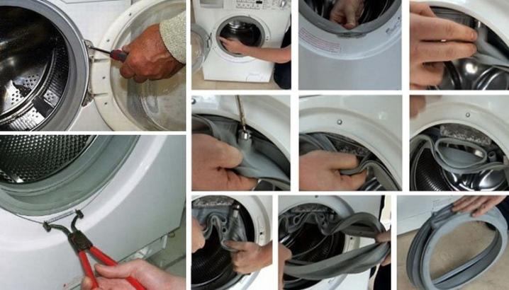 Замена манжеты люка стиральной машины lg m1096nd4 - как заменить манжету самому