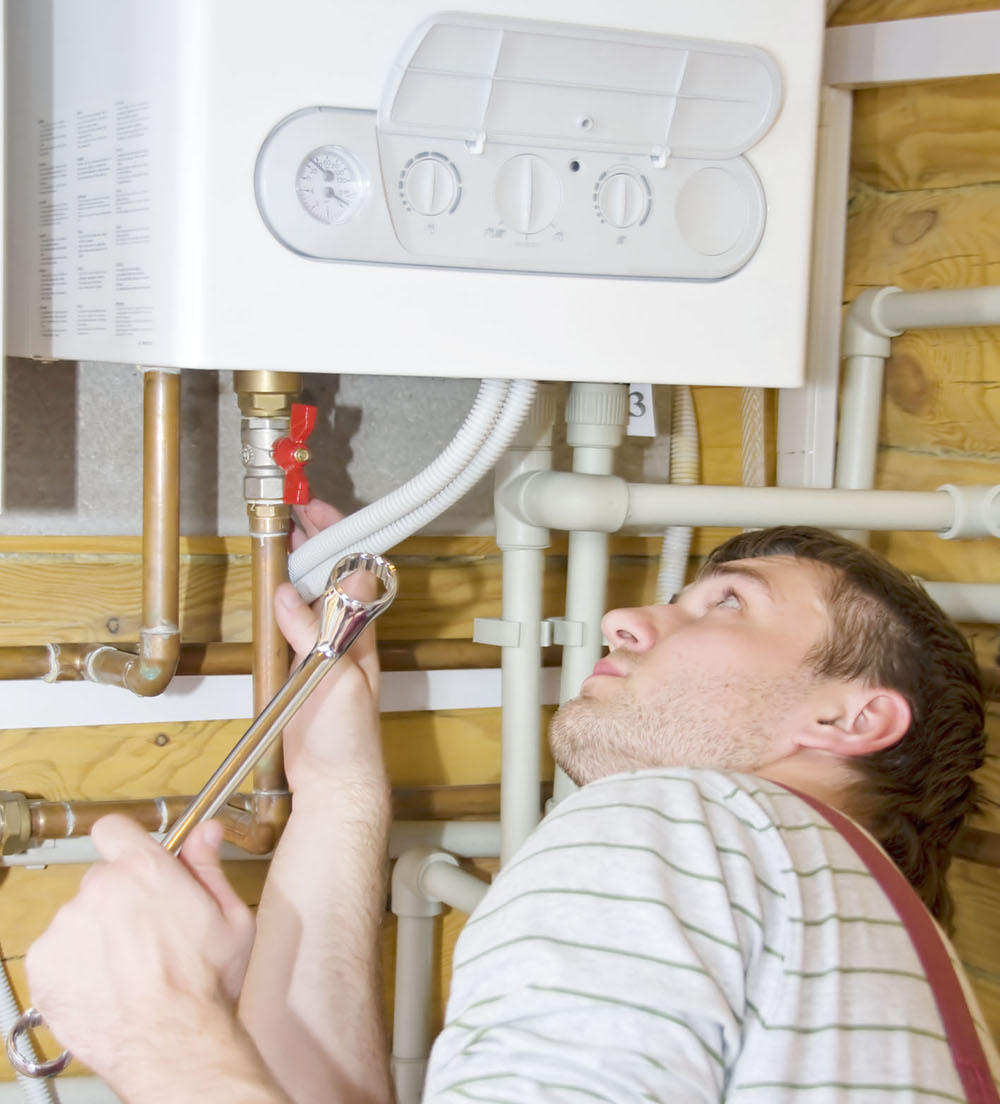 Монтаж газового настенного котла