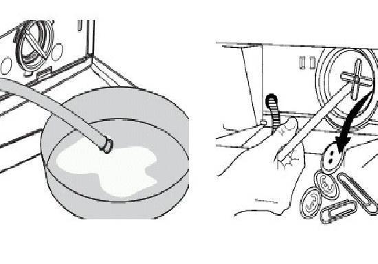 Как слить воду из стиральной машины индезит