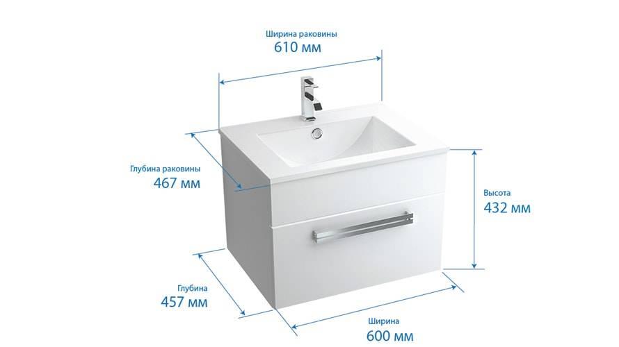 Размер раковины в ванной: стандартная высота и ширина