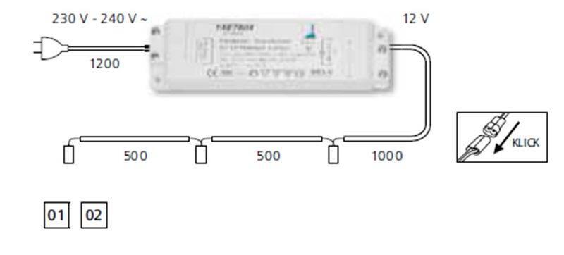 Схема подключения галогенных ламп через трансформатор