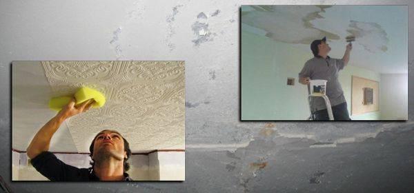 Убрать пятно с потолка белизной. как устранить протечку на потолке без посторонней помощи. агрессивные методы очистки