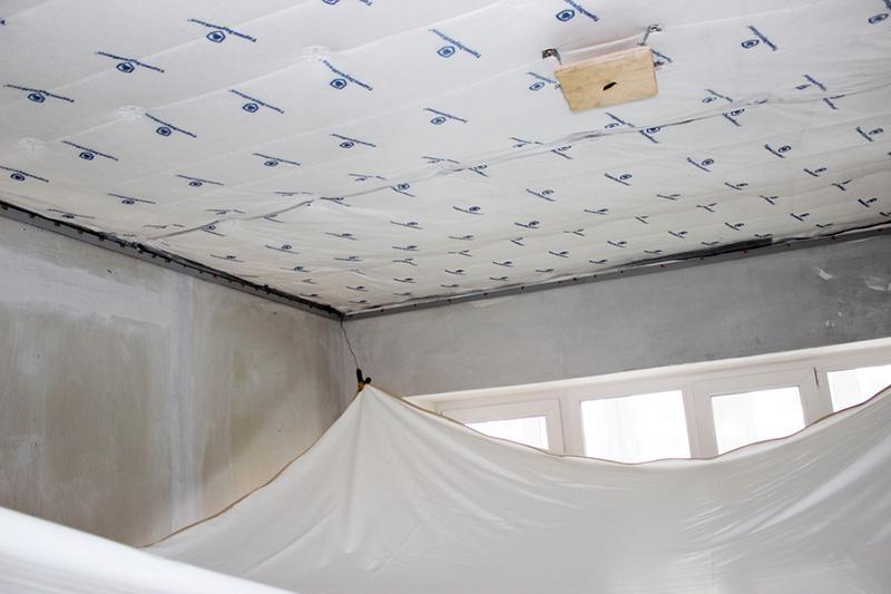Шумоизоляция потолка в квартире под натяжной потолок своими руками